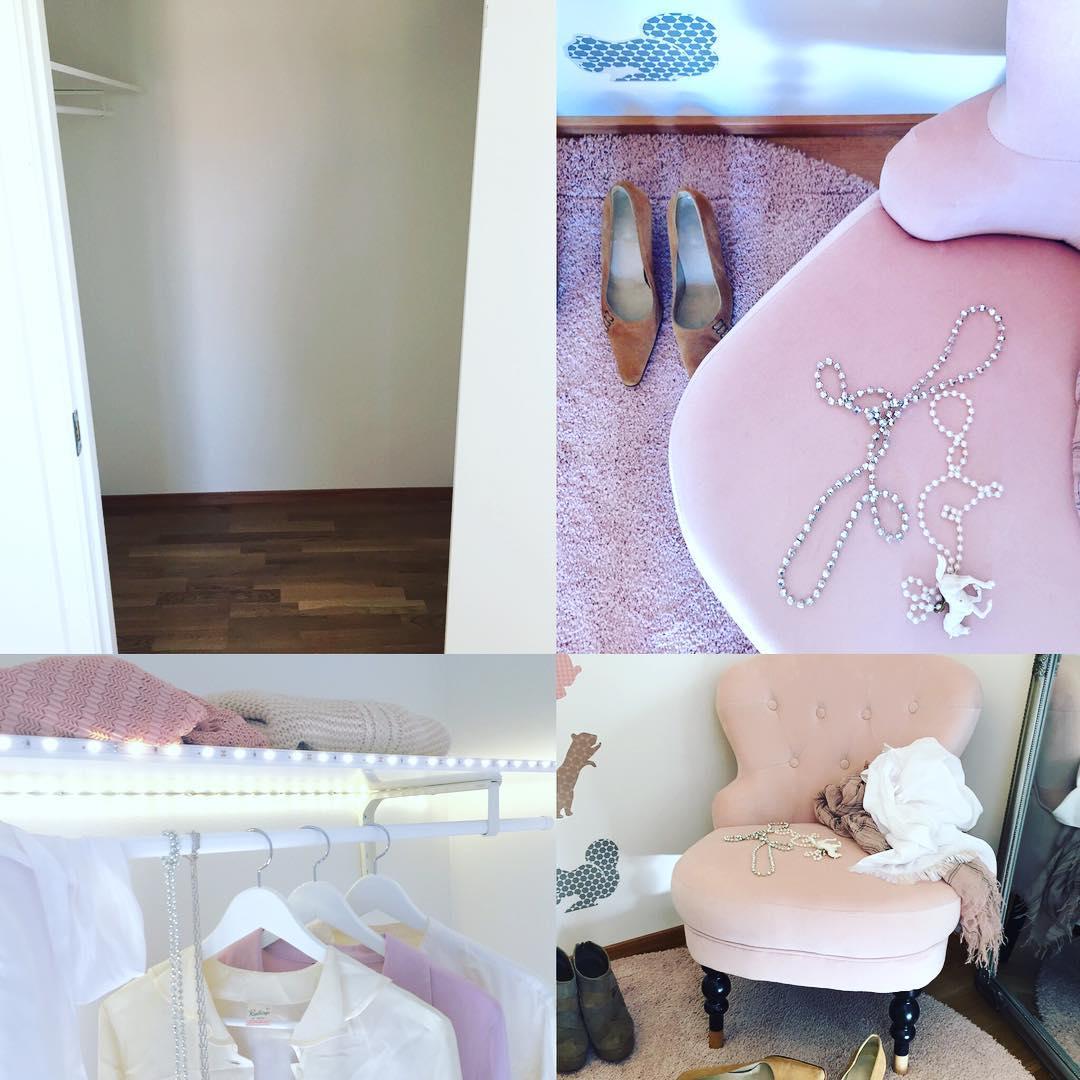 Före och efter. Lyx på liten yta. #style #stylebycarola #beforeandafter #interiordesign #inredare #interior #interiors #walkincloset #lyx #garderob